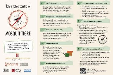 L'Ajuntament informa als veïns de les mesures a adoptar per combatre el mosquit tigre