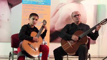 Duet de guitarra clàssica amb pare i fill a Bellreguard