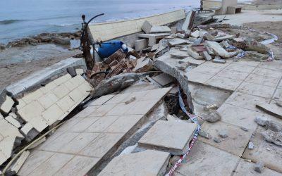 La borrasca Glòria va deixar vora 600.000 euros de danys a la platja de Bellreguard
