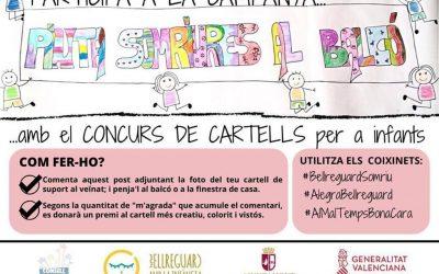 El Consell de Xiquetes i Xiquets organitza un concurs de cartells d'ànim per a penjar als balcons