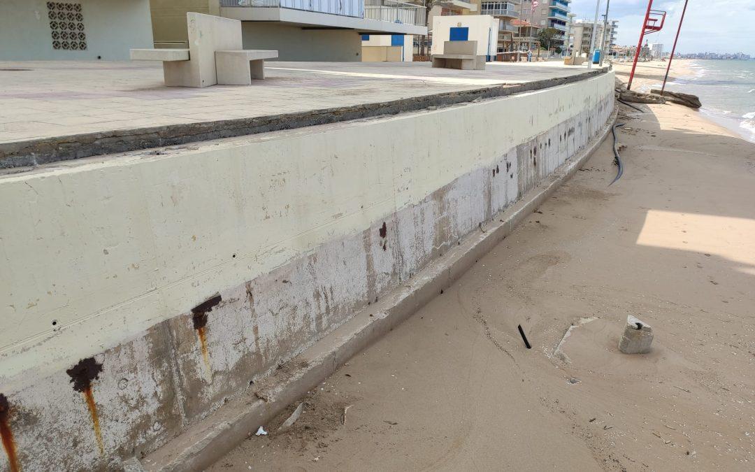 Bellreguard instal·larà una barana provisional per garantir la seguretat a la platja aquest estiu