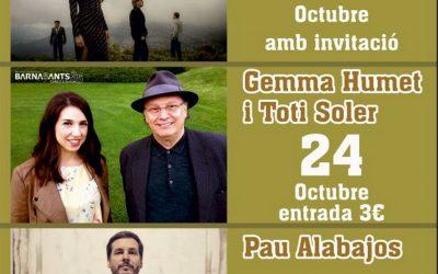 Jazzmatics, Gemma Humet, Toti Soler i Pau Alabajos posen 'Ritmes de Tardor' a l'oferta cultural de Bellreguard