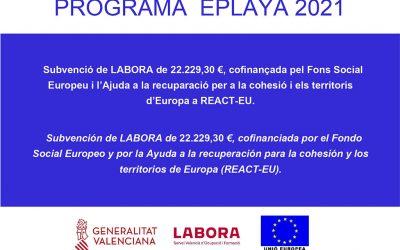 El Ayuntamiento de Bellreguard contrata a 5 jóvenes como informadores del programa Playas Seguras